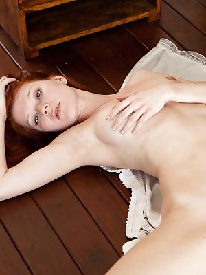 SexArt  Mia Sollis  Model, Fingering, Softcore, Erotic, Red Heads, Cute, Blue eyes